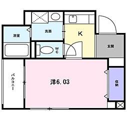 ドゥシエームシマ[0405号室]の間取り
