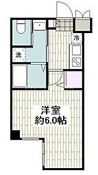JR東海道本線 平塚駅 徒歩8分の賃貸マンション 1階1Kの間取り
