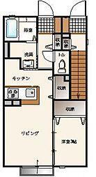 エーデルハイム平柳 A棟[1階]の間取り