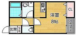 プラリア新之栄町[1階]の間取り