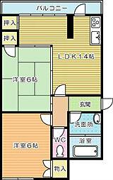 岩崎マンション[205号室]の間取り