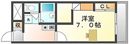 香川県坂出市新浜町の賃貸アパートの間取り