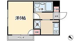 佐藤コーポ[201号室]の間取り