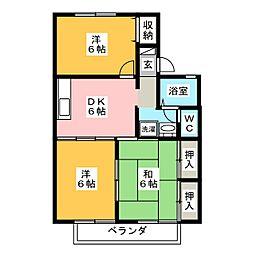 ボンシャンスC[1階]の間取り