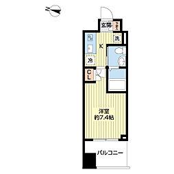 仙台市営南北線 勾当台公園駅 徒歩9分の賃貸マンション 11階1Kの間取り