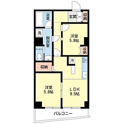 新潟県新潟市中央区寄居町の賃貸マンションの間取り