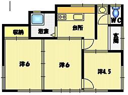 [一戸建] 茨城県水戸市笠原町 の賃貸【/】の間取り