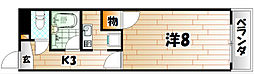 トーカンマンション小倉東[1階]の間取り
