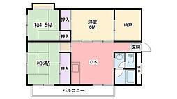 兵庫県西宮市若草町2丁目の賃貸マンションの間取り