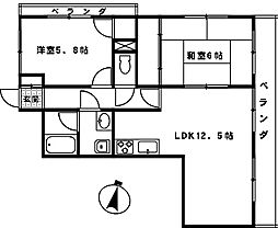 サンクレール大宮[203号室]の間取り