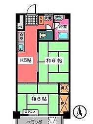 宇田川ビル[3階]の間取り