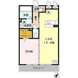 愛知県名古屋市緑区青山2丁目の賃貸アパートの間取り