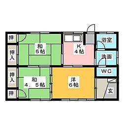 [一戸建] 群馬県高崎市飯塚町 の賃貸【/】の間取り