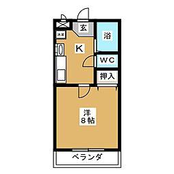 パールマンションI[2階]の間取り