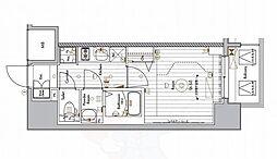 名古屋市営東山線 今池駅 徒歩6分の賃貸マンション 13階1Kの間取り