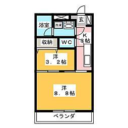 レジデンス鹿田[3階]の間取り