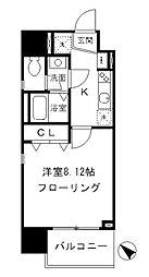 東京メトロ日比谷線 築地駅 徒歩2分の賃貸マンション 7階1Kの間取り