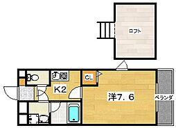 枚方グランドマンション[4階]の間取り