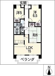 サニーコート平島[1階]の間取り