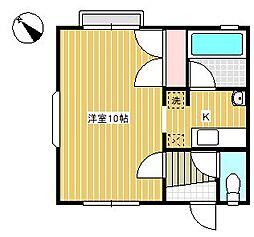成城サイド[203号室]の間取り