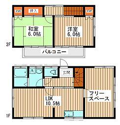 [一戸建] 千葉県我孫子市日秀 の賃貸【/】の間取り