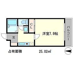 ラ・ヴィ松ヶ崎[2階]の間取り