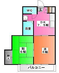 東京都北区王子3の賃貸アパートの間取り