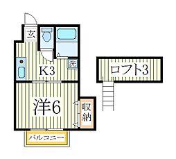 ラ・シード[2階]の間取り