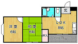 城マンション[3階]の間取り
