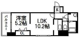 北海道札幌市中央区北五条西17丁目の賃貸マンションの間取り