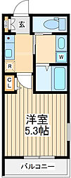 JR中央線 立川駅 徒歩20分の賃貸マンション 3階1Kの間取り