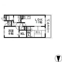 フィールドパークII番館[402号室号室]の間取り