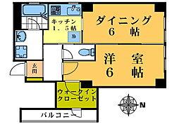 松井ビルディング[402号室]の間取り