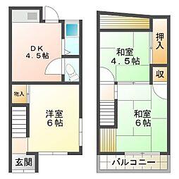 [テラスハウス] 兵庫県神戸市垂水区塩屋町9丁目 の賃貸【/】の間取り