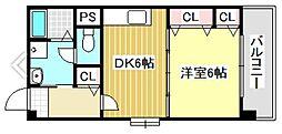 栗木第8ビル[5階]の間取り