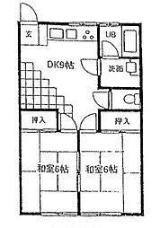サンライズ横浜[203号室号室]の間取り