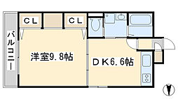 コスモス小倉駅前II[7階]の間取り