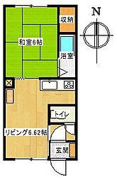 コーポいちい[2-5号室]の間取り