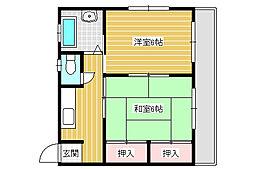 アパートメントCHIZUKA[302号室]の間取り