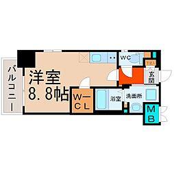 愛知県名古屋市中区丸の内3の賃貸マンションの間取り