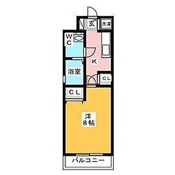ピュアドームエクセル博多[3階]の間取り