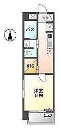 愛知県清須市西田中長堀の賃貸マンションの間取り