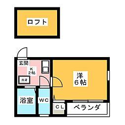 アパートメント51[2階]の間取り
