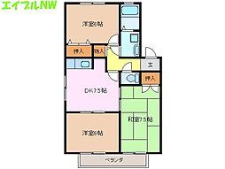 御殿場レジデンスII[1階]の間取り