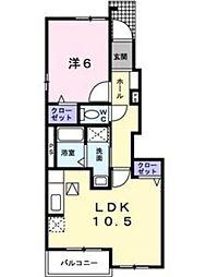 ソレイユ小幡[1階]の間取り