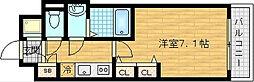 レジュールアッシュ梅田レジデンス[3階]の間取り