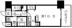 ブランクレール谷町[4階]の間取り