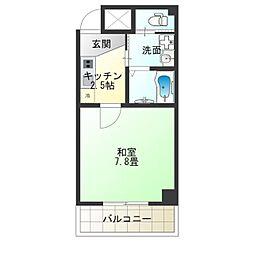 TOYOTOMI STAY PREMIUM NAGAHASHI 3階1Kの間取り