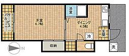 第7ちどり荘[202号室]の間取り