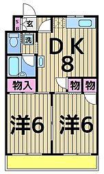 フラワー館[2階]の間取り